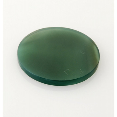 Piastra in Agata Verde - Tonda -3.5x3.5x0.3
