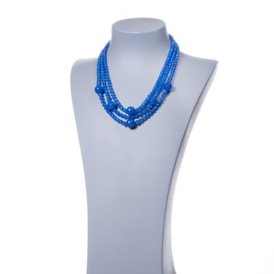Collana di sfere in Agata Blu e Argento 925