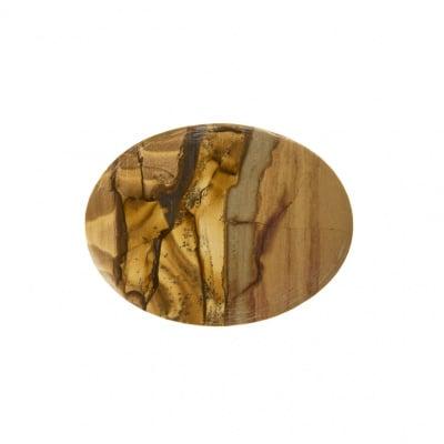 Cabochon in Pietra Paesina - Ovale 3.0x4.0x0.5 cm