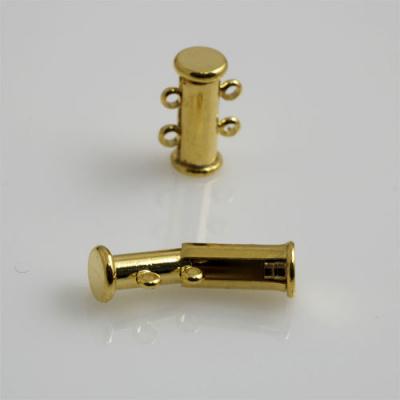 Chiusura magnetica a due fili color Oro 1.6x1 cm - 1 pz.