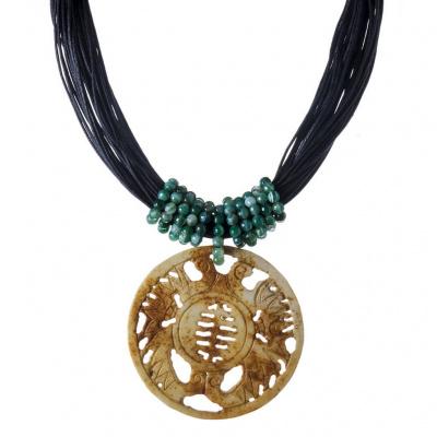 Collana di Giada, Agata Verde e Argento 925