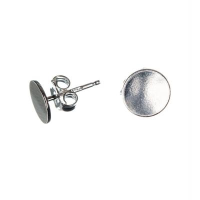 Orecchino a perno in Argento 925 - piatto, diametro 0.8 cm. - 2pz