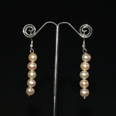 Orecchini Pendenti in Perle ed Argento