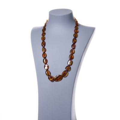 Collana con Elementi Ovali di Ambra