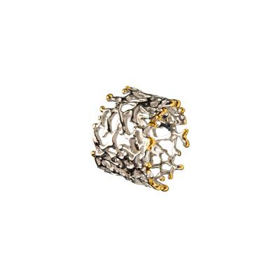 Anello in Argento 925 con tocco d'Oro