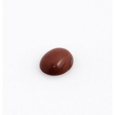 Cabochon in Diaspro Rosso - Ovale - 1.2x1.6x0.5