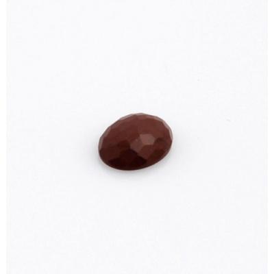 Cabochon in Diaspro Rosso Sfaccettato - Ovale 1.3x1.8x0.5