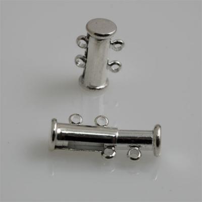Chiusura magnetica a due fili color Argento 1.5x1 cm - 1 pz.
