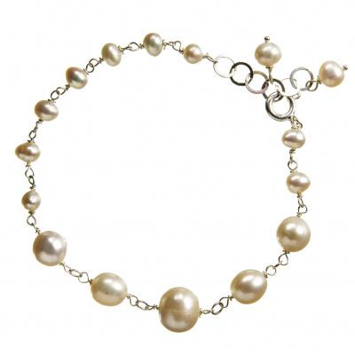 Bracciale con Perle e Argento 925