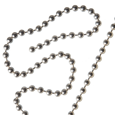 Catena in Argento 925 trama Ball Chain - 50 cm.