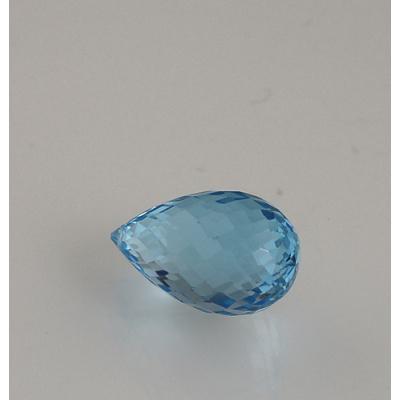 Gemma di Topazio Azzurro - Taglio Brillante - Goccia 1.05x1.75x1.05