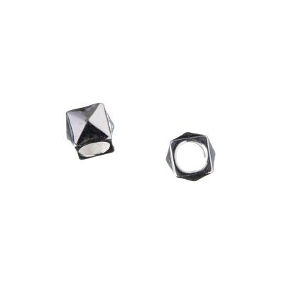 Distanziatore Cubo in Argento 925 - 0.6 x 0.6 cm - 2 pz.