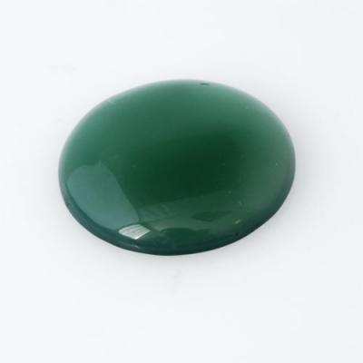 Cabochon in Agata Verde - Tondo 2.5x2.5x0.5