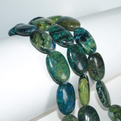 Azzurrite - Elementi ovali - Filo
