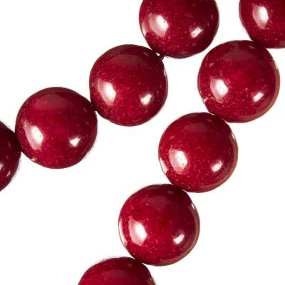 Radice Di Rubino - Filo di sfere lisce da 14 mm