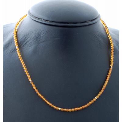 Collana Corta a Sfere di Ambra e Oro