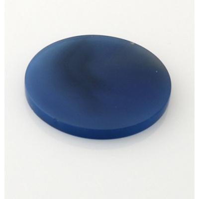 Piastra in Agata Blu - Tonda - 3.5x3.5x0.3