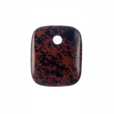 Ciondolo Unisex in Ossidiana marrone levigata
