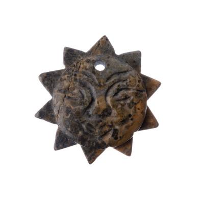 Ciondolo Unisex in Pelle di Leopardo - Sole