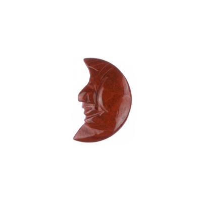 Ciondolo unisex in Diaspro Rosso levigato - Luna