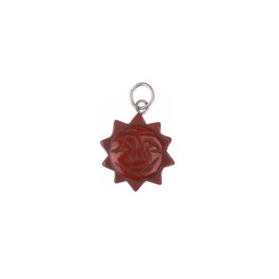 Ciondolo in Diaspro Rosso - Sole