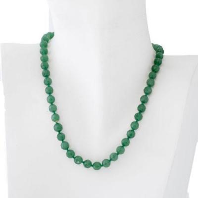 Collana Corta a Sfere Sfaccettate di Avventurina Verde