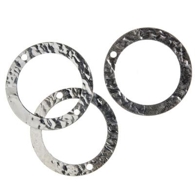 Link Circolare a 2 vie in Argento 925 - diametro 2.3 cm - 1 pz.