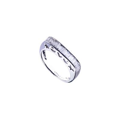 Anello in Oro bianco 18k con Diamanti 0.51 ct.