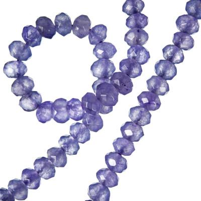 Agata Viola - filo di rondelle sfaccettate