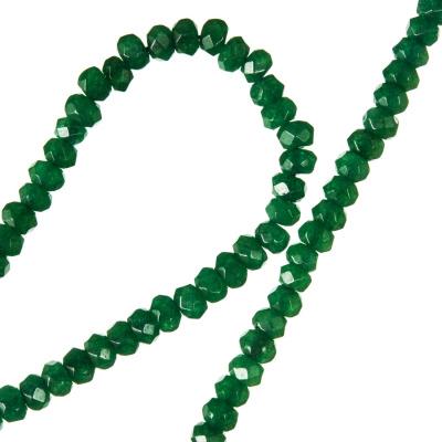 Agata Verde - filo di rondelle sfaccettate