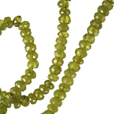 Olivina - Filo di rondelle sfaccettate