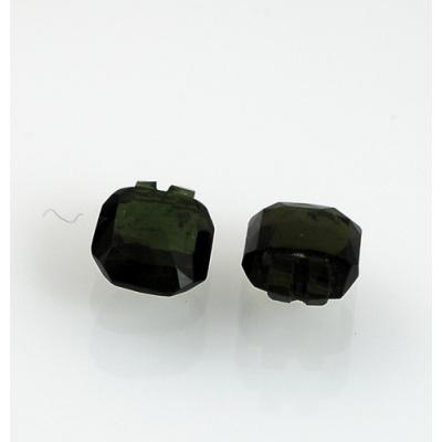 Gemme di Tormalina Verde (Coppia) - A gradini - 0.76x0.97x0.45