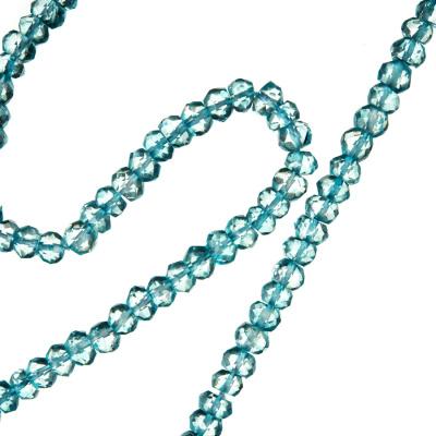 Topazio - filo di rondelle sfaccettate da 4 mm