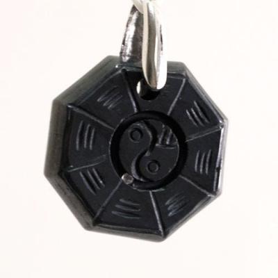 Ciondolo Unisex Yin Yang in Ematite levigata e Ag 925