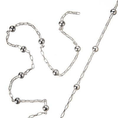 Catena in Argento 925 trama Ball Chain intervallati - 50 cm.