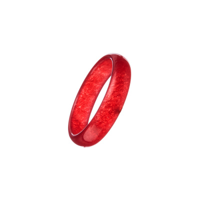 Anello All Stone in Giada Rossa - Small
