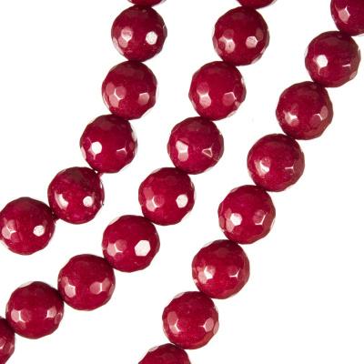 Radice Di Rubino - Filo di sfere sfaccettate da 8 mm