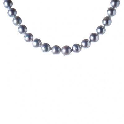 Collana di Perle Australiane Grigie e Argento 925
