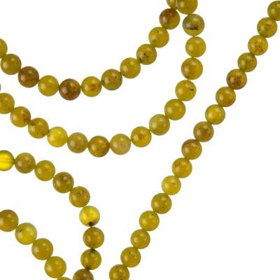 Olivina - Filo di sfere lisce da 4mm