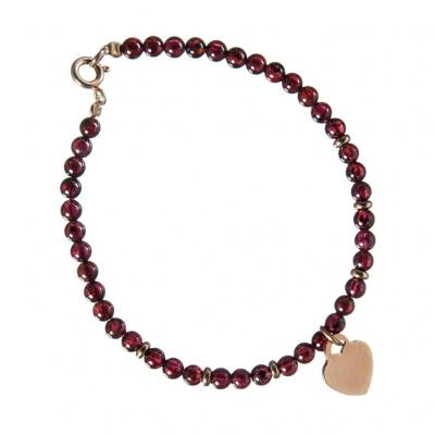 Bracciale in Granato e Argento 925 Rosa