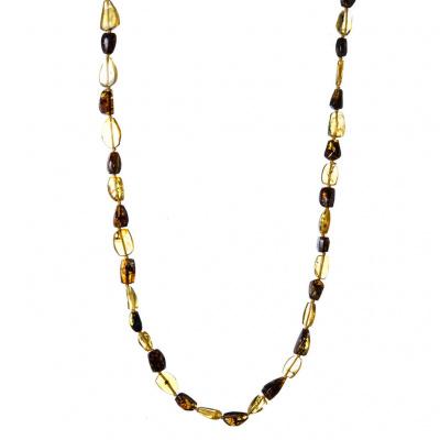 Collana con elementi di Ambra messicana e Argento 925