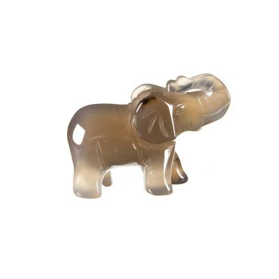 Elefante in Agata Naturale
