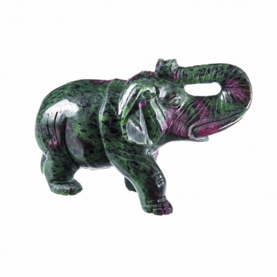 Elefante in Ruby-Zoisite
