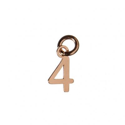 Ciondolo Numero Quattro in Argento 925 Rosa