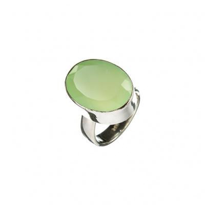 Anello di Agata Verde e Argento 925