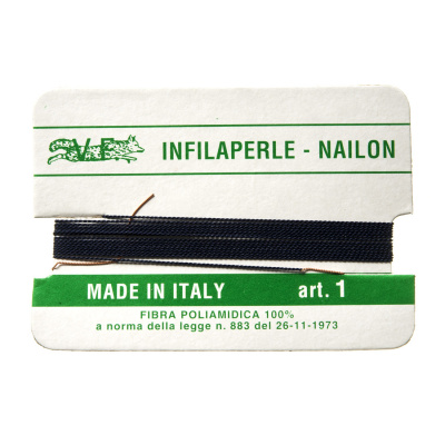 Filo Infilaperle in Nylon con ago - Bleu - Diametro da 0.4 a 0.9 mm