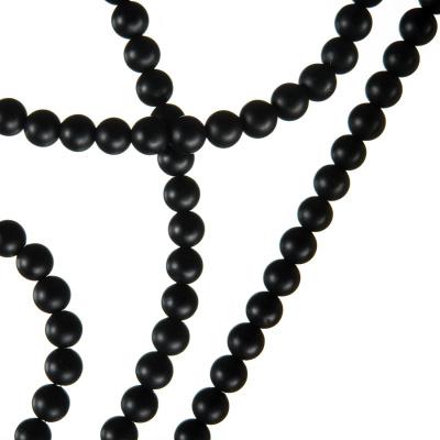 Agata Nera Opaca - Sfera liscia da 4mm
