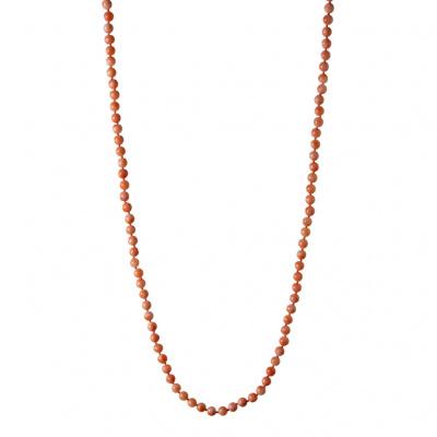 Collana a sfere di Corallo Rosa e Argento 925 Dorato