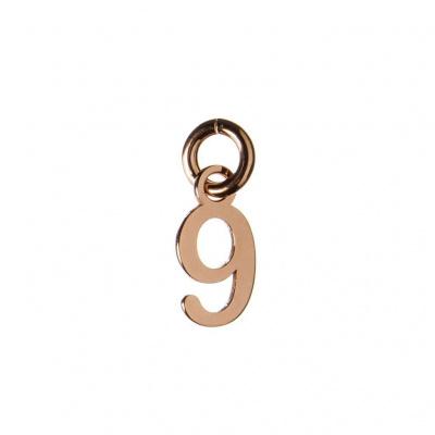 Ciondolo Numero Nove in Argento 925 Rosa