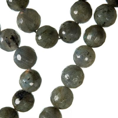Labradorite - Filo di sfere sfaccettate da 10mm